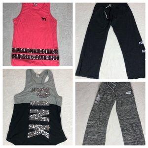 Pink Victoria's Secret 4 pc Bundle Size XS